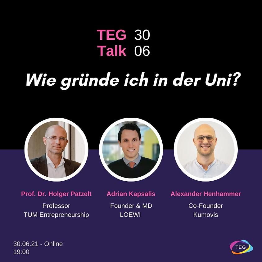 TEG Talk #1