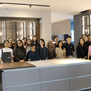 Interior Design students from the First City University College visit the Signature Kitchen HQ