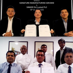 SIGNATURE Group announces Joint Venture with SINGER Sri Lanka to penetrate into the kitchen market i