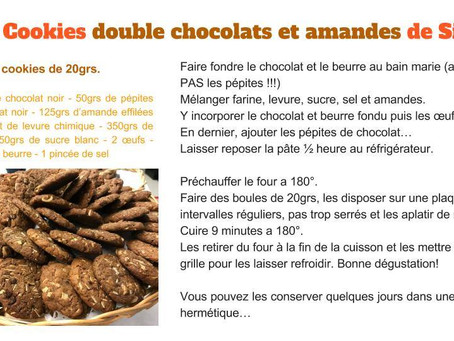 Les Cookies double chocolats et amandes de Simon