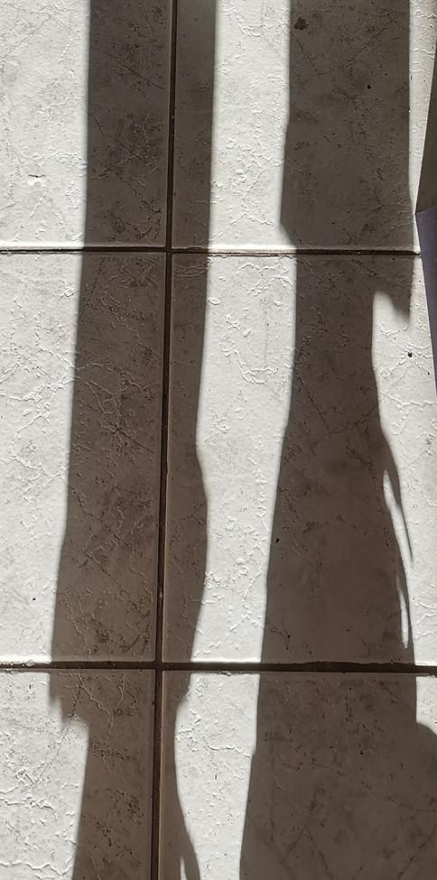 Shadows on floor