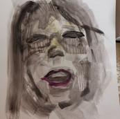 acrylique et crayon sur papier d'art 2020