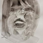 acrylique  sur papier d'art 2020