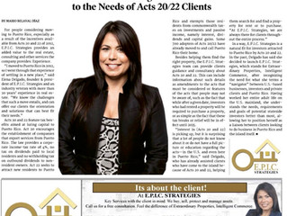 E.P.I.C Strategies cater to the needs of Act 20/22 clients