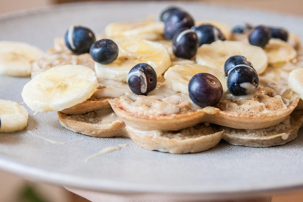 Healthy oat waffles