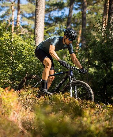 Cyclist on Canyon mountain bike