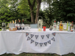 Bar ready for guests