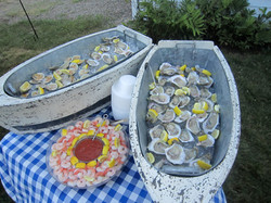 Raw oyster and shrimp bar