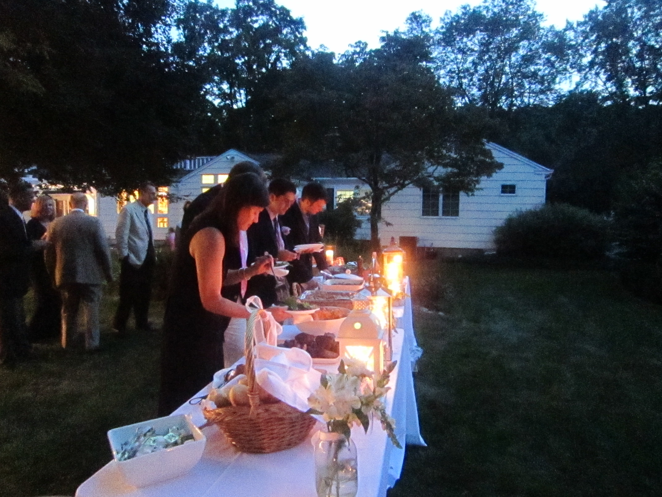 Evening wedding in New Canaan