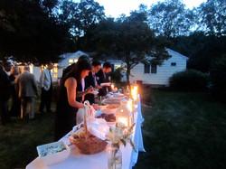 Evening wedding in New Canaan