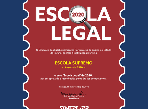 Selo Escola Legal