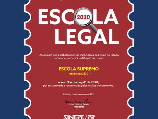 Selo Escola Legal