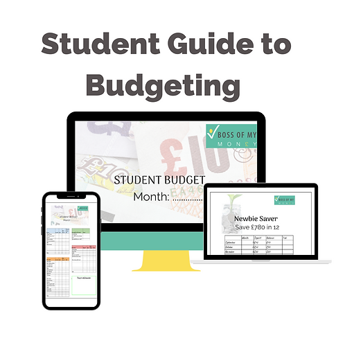 Student Guide To Budgeting +worksheets