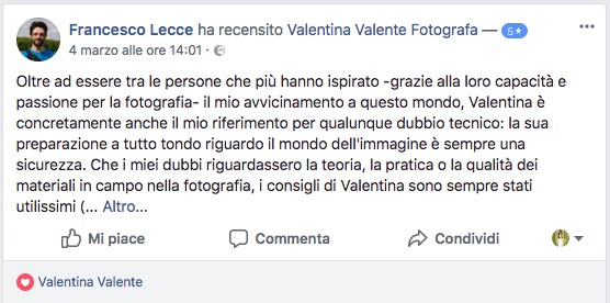 Francesco su Facebook