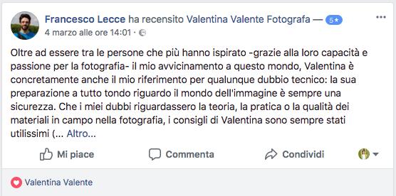 Francesco su Facebook