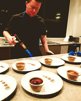 Brulee action from Chef Kevin Blakeman