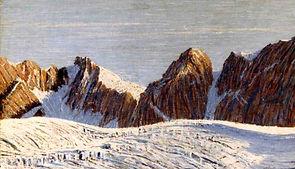 P759_V. Schiavio, Paesaggio alpino con l