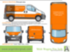 Vehicle wrapping price guide medium size van Angel Design uk