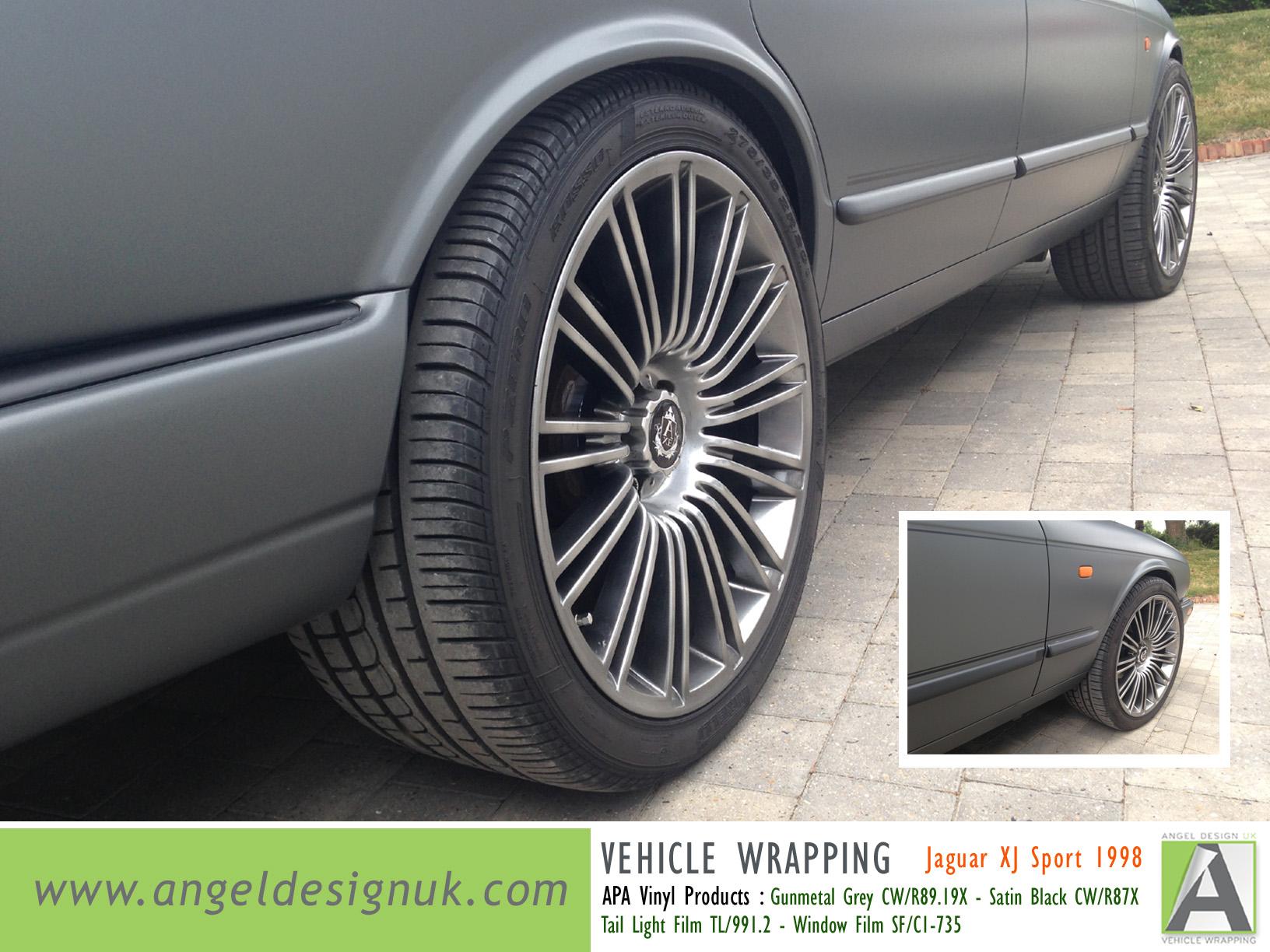 ANGEL DESIGN UK Vehicle Wrapping Jaguar XJ Sport 1998 Gunmetal Grey Pic 4