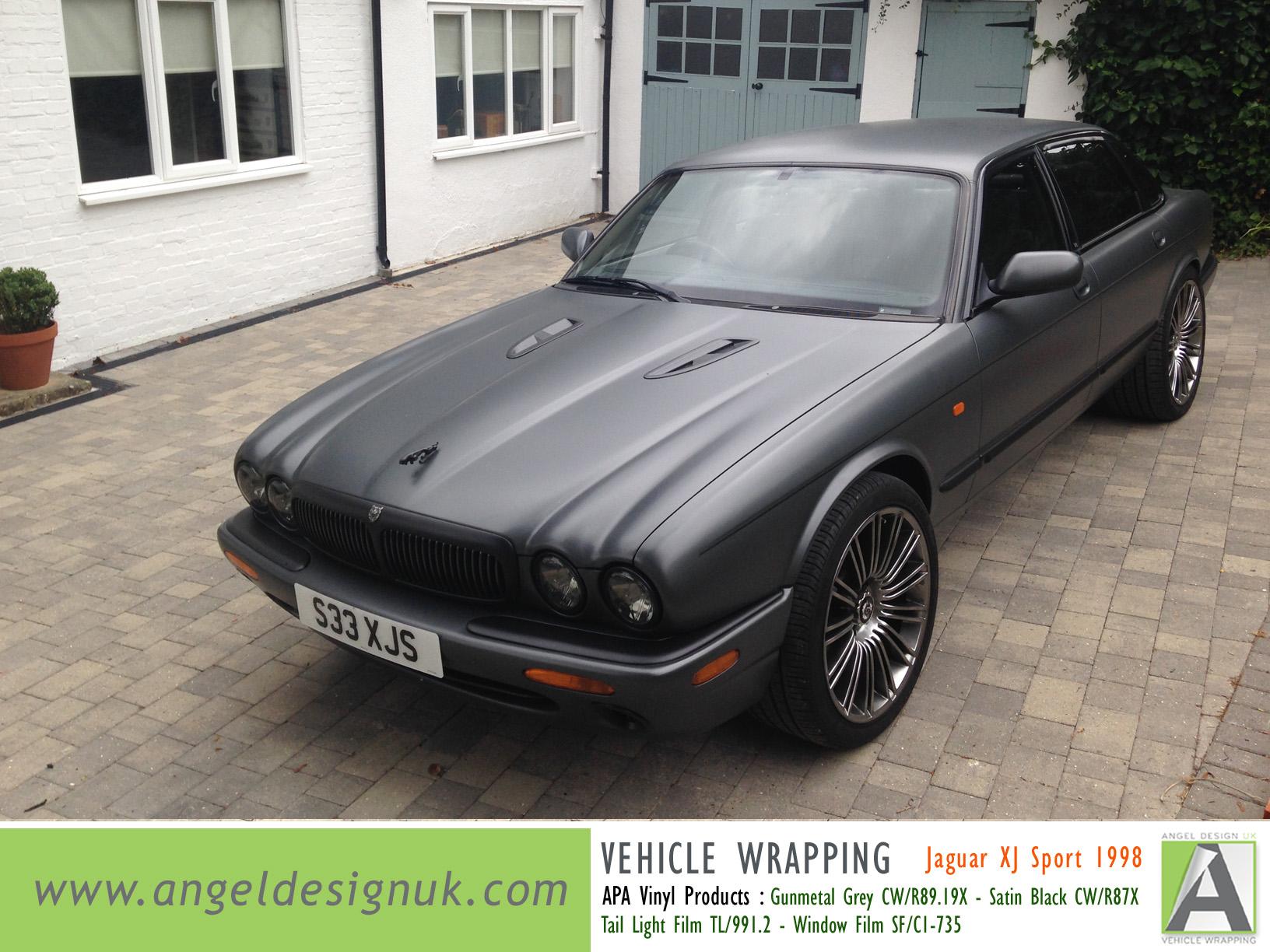 ANGEL DESIGN UK Vehicle Wrapping Jaguar XJ Sport 1998 Gunmetal Grey Pic 3
