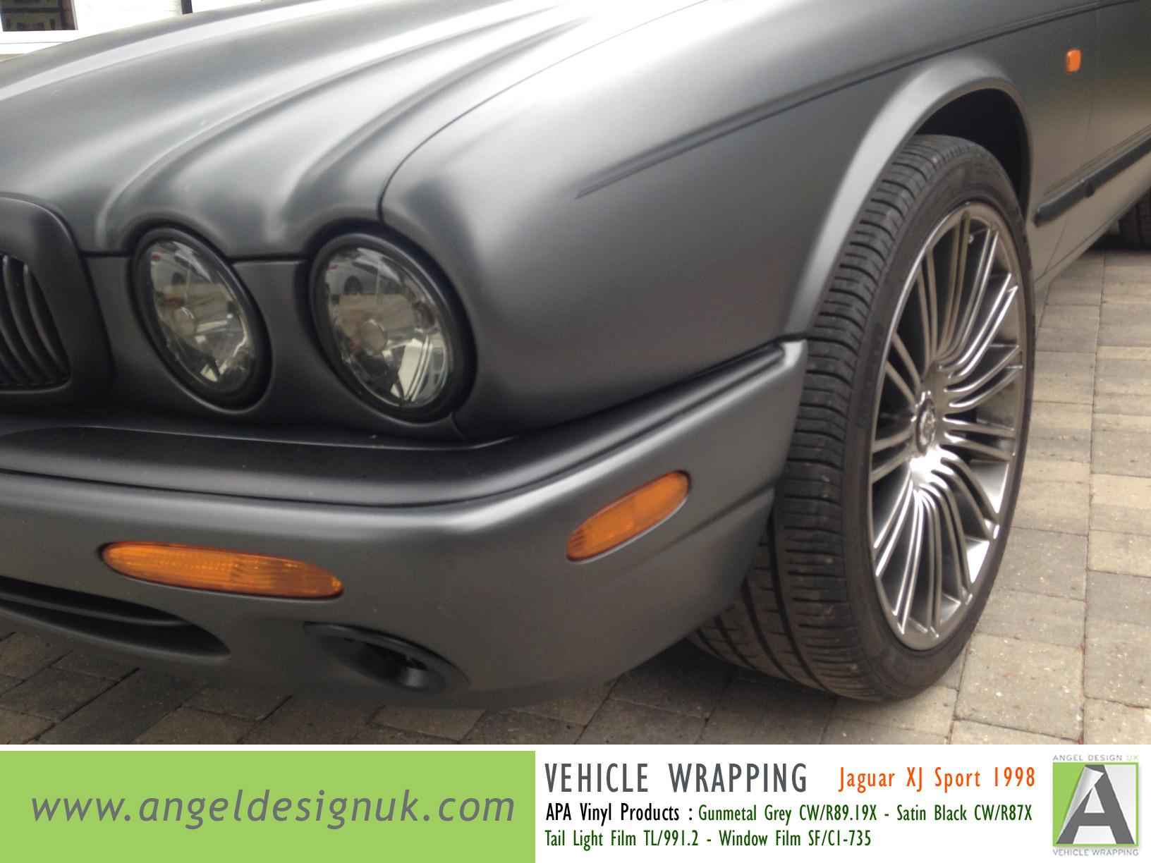 ANGEL DESIGN UK Vehicle Wrapping Jaguar XJ Sport 1998 Gunmetal Grey Pic 5