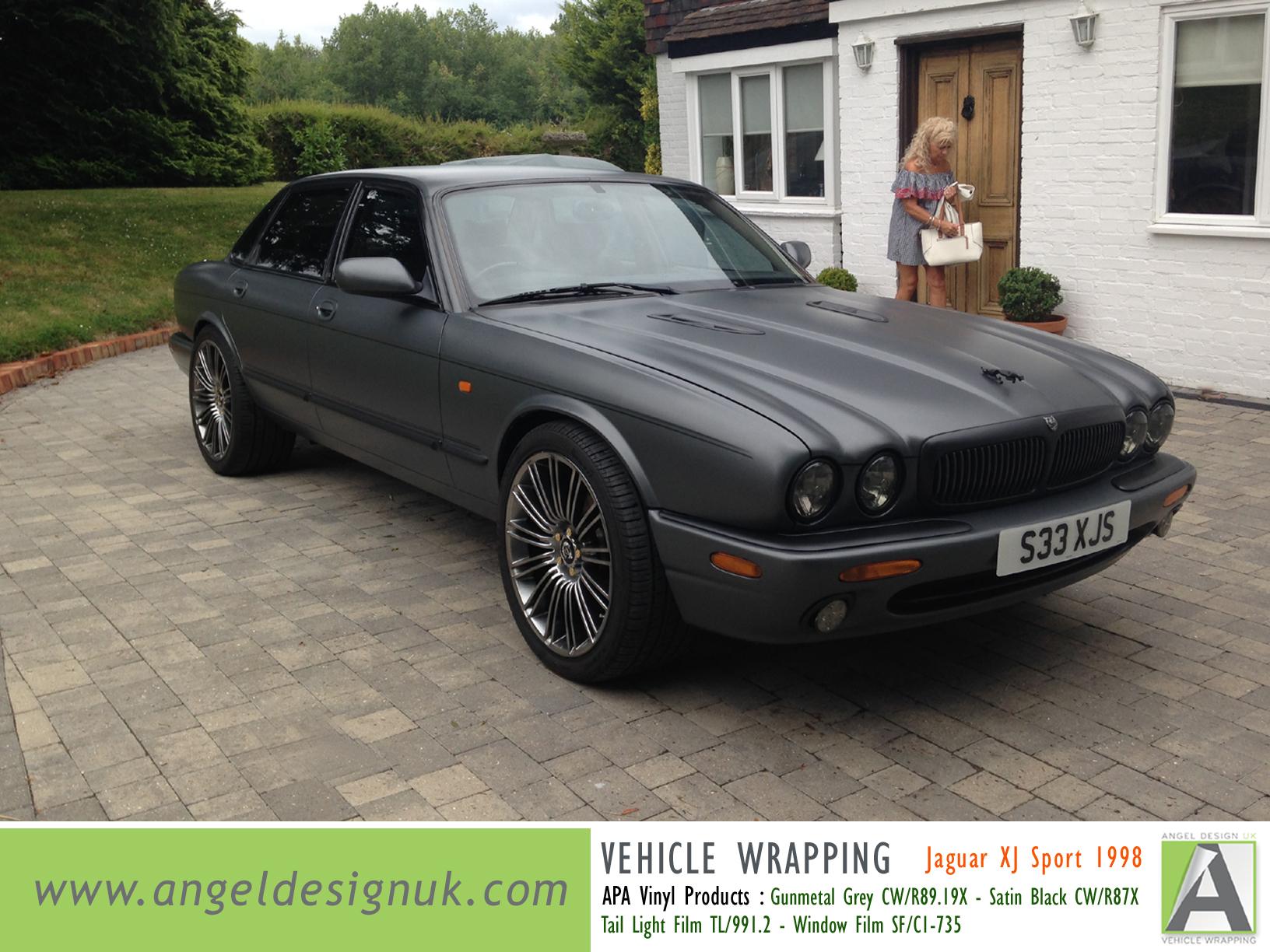 ANGEL DESIGN UK Vehicle Wrapping Jaguar XJ Sport 1998 Gunmetal Grey Pic 1