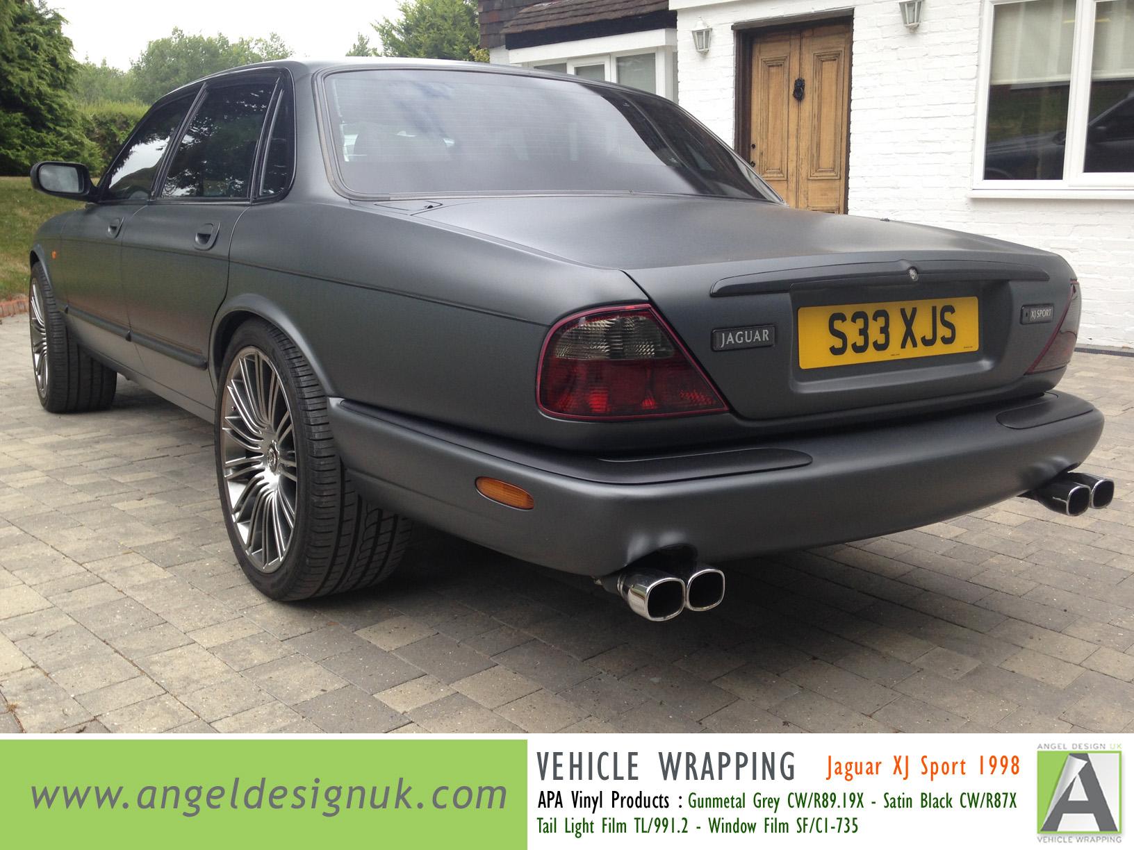 ANGEL DESIGN UK Vehicle Wrapping Jaguar XJ Sport 1998 Gunmetal Grey Pic 6