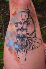 Tattoo - dotwork en aquarel