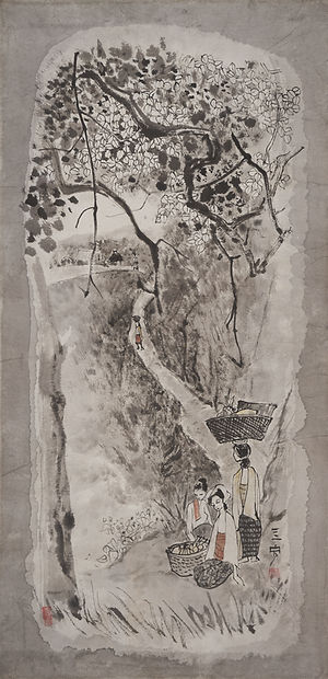 Cheong Soo Pieng_Figures Beneath a Tree.