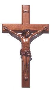 Dark Stain Finish Corpus Cross
