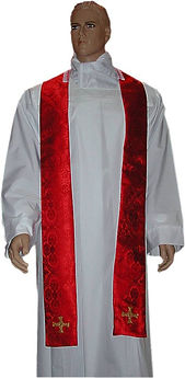 North East Church Supplies Embroidered St Cuthbert Cross Priest Stoles