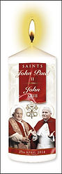 John Paul II & John XXIII Candle