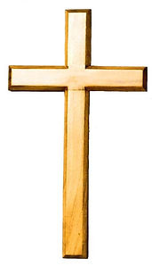 Natural Stain Finish Hanging Cross