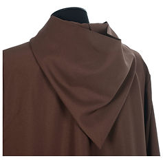 A brown Franciscan Alb with over Tunic.  Bespoke made to your own sizes