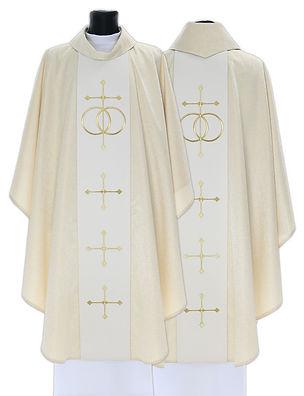 C631 Woven Wedding Chasuble