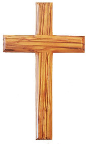 Traditional Olive Wood Hanging Cross