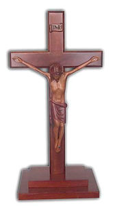 Dark Stain Finish Stepped Corpus Cross