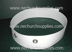 White Tonsure Clergy Collars