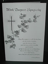 North East Church Supplies Sympathy & Bereavement Cards