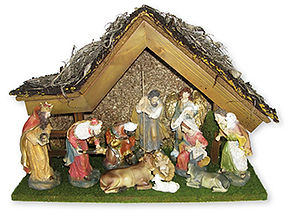 Nativity Figures & Shed