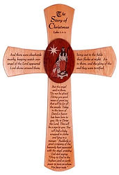 Natural Stain Finish Christmas Cross