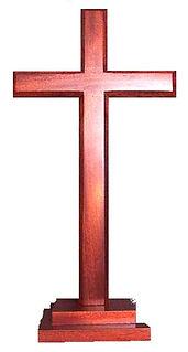 Dark Stain Finish Stepped Cross
