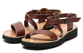 "A brown Franciscan ""Nazarene"" style leather Sandal"