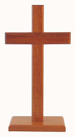 Natural Stain Finish Standing Cross