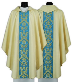Marian Feast Celebration Chasublesocade Marian Chasuble