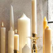 Paschal candles, church candles