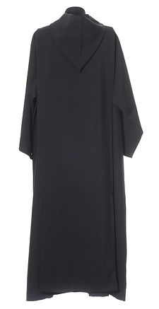 A black Benedictine Alb with over Scapular Tunic.  Bespoke made to your own sizes