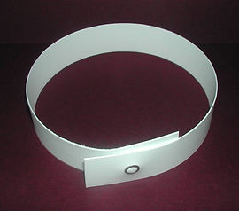 White Plastic Press Stud Clergy Collar