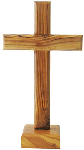 Traditional Olive Wood Standing Cross