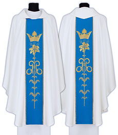 Marian Feast Celebration Chasubles